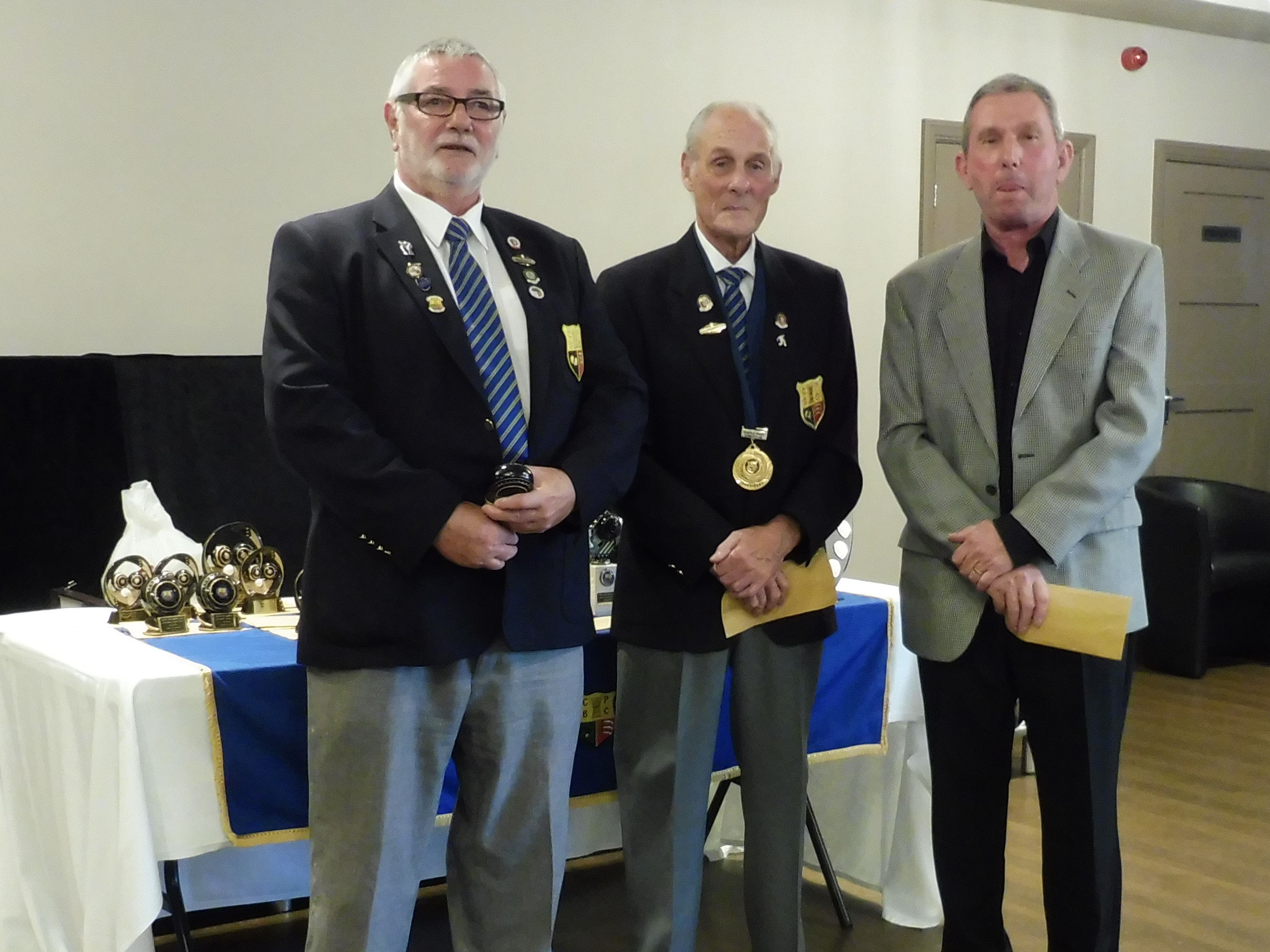 Cleanaway Triples Runners-Up - Brian Blake, Tom White and Keith Emberson