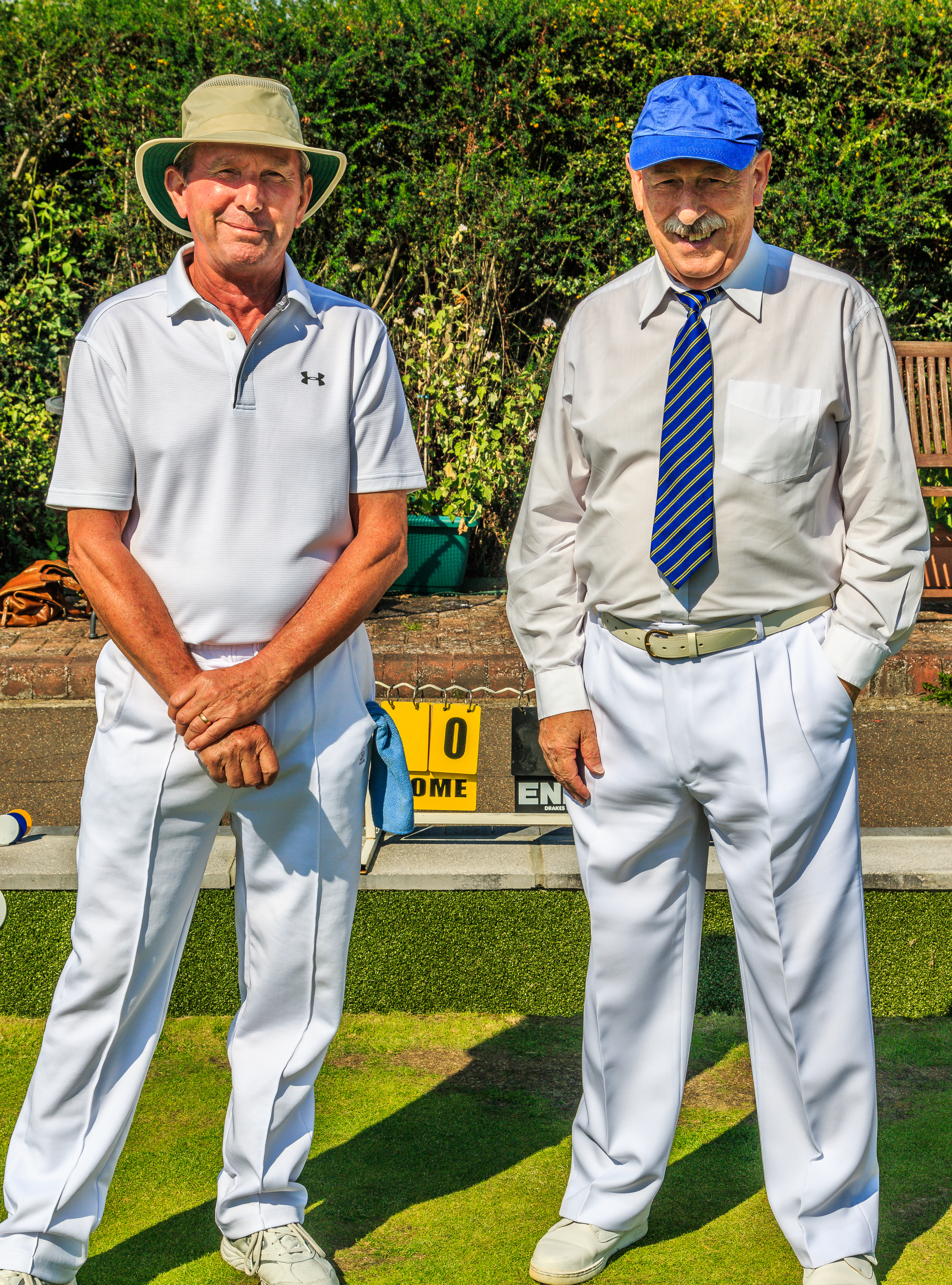 Keith Emberson & Ian Foote - finalists mens championship