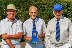 Keith Emberson & Ian Foote - finalists of the mens championship with marker Tom White