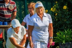 Margaret Wall & Pauline Naylor in Ladies Pairs final