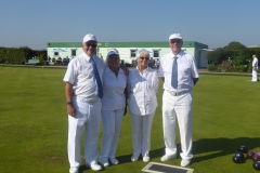 Mixed pairs - Ken Farge, Pauline Naylor, Nova Bickmore and Mike Smith