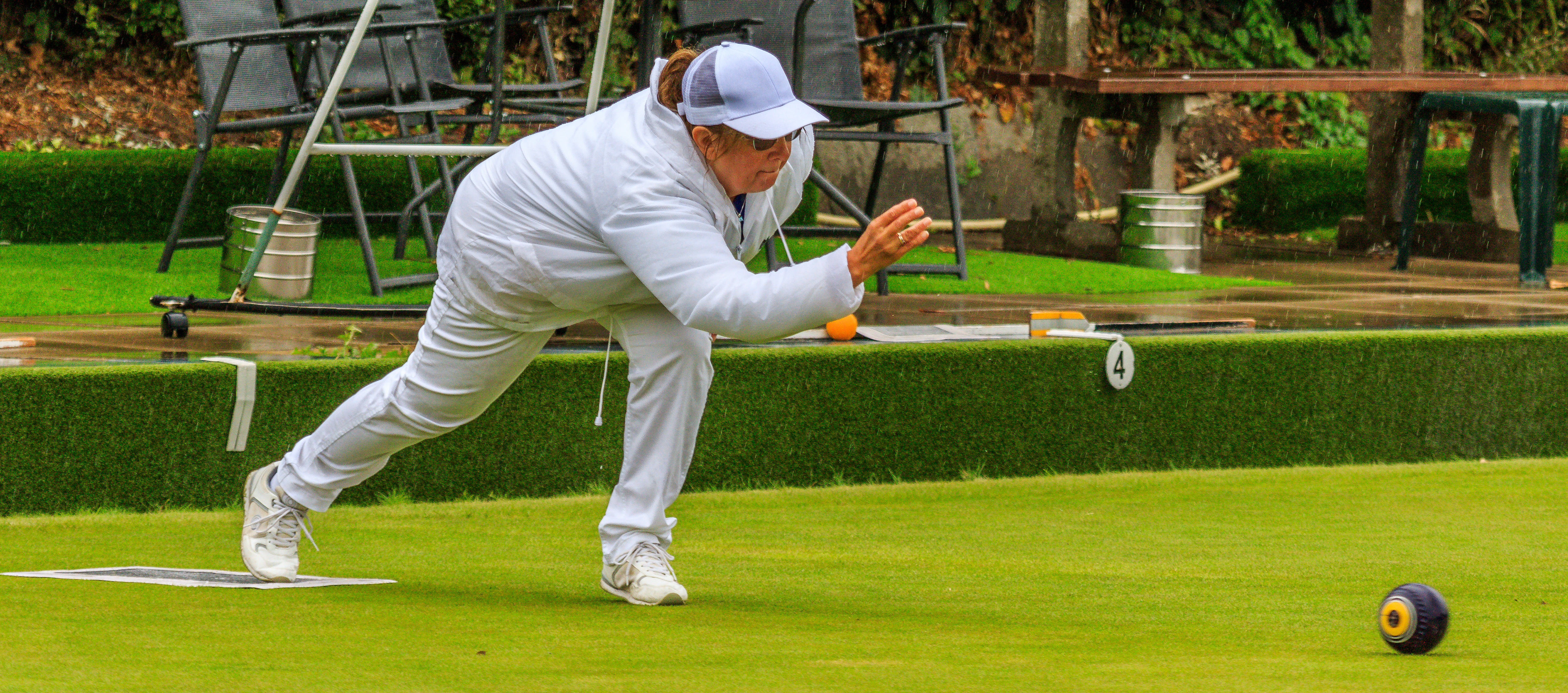 Jeanie Humm in action in Ladies Champion of Champions Final