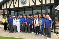 Friendly match at Clacton Bowls Club